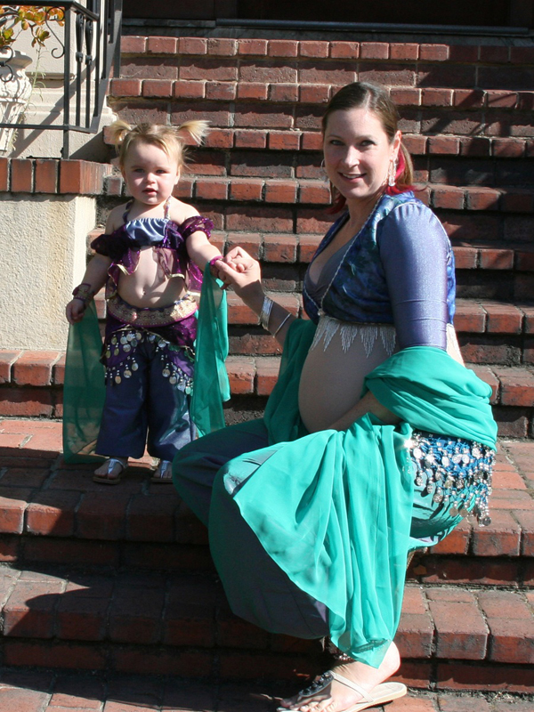 Baby belly dancer and belly dancer baby momma
