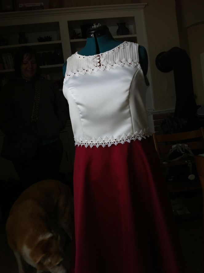 The finished gown
