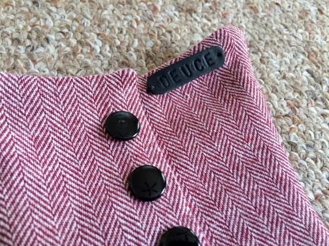 tweed herringbone spat detail