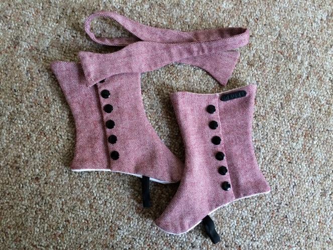 tweed herringbone spats