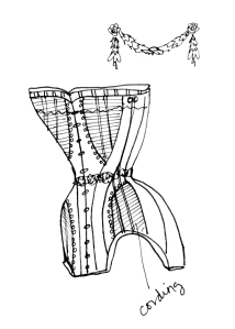 Erinn Larsen Original Sketch of Wedding Cake Corset