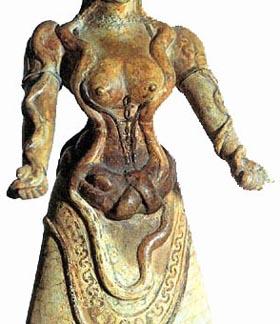 Minoan Snake Goddess (est. 2500BC-1500BC)